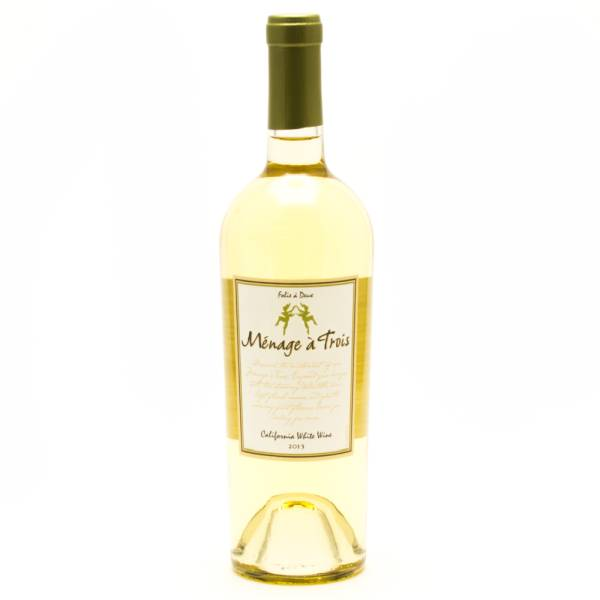 menage a trois white wine 750ml beer wine and liquor delivered to your door or business. Black Bedroom Furniture Sets. Home Design Ideas