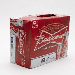 Budweiser - Beer - 8oz Can - 12 Pack