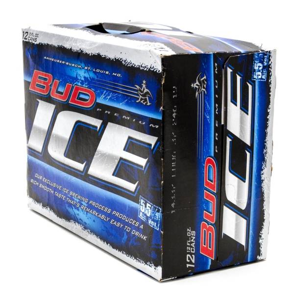 Bud Ice - Beer - 12oz Cans - 12 Pack