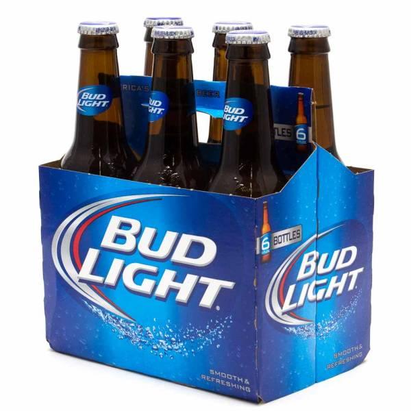 Bud Light - 12oz Bottle - Beer - 6 pack