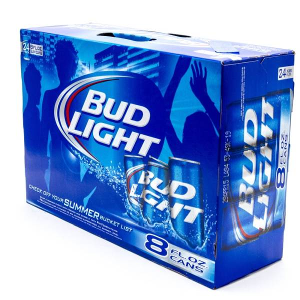 Bud Light   Beer   8oz Can   24 Pack