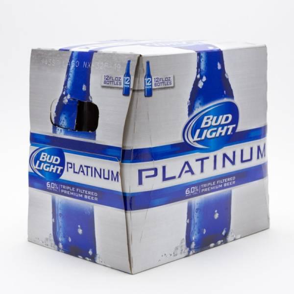 Bud Light - Platinum - Beer - 12oz Bottle - 12 Pack