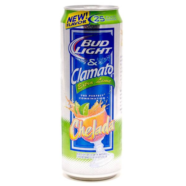 Bud Light & Clamato - Chelada Extra Lime - Beer - 25oz Can