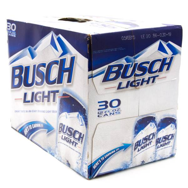 Busch Light Beer 12oz Cans 30 Pack