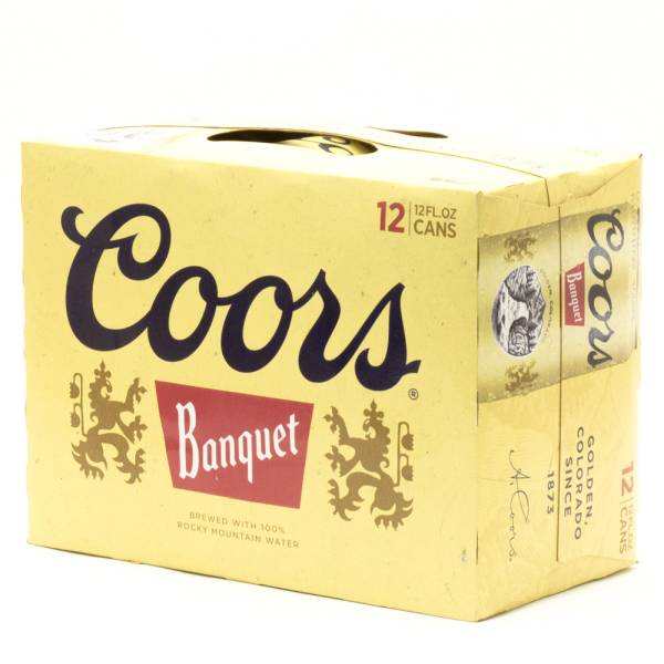 Coors Banquet 12oz Can 12 Pack Beer Wine And