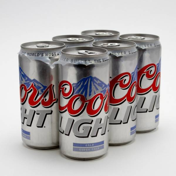 Coors Light Beer 12oz Can 6 Pack Beer Wine And