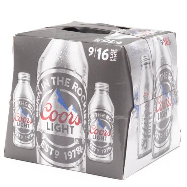 Coors - Light Beer - 16oz Aluminum Bottle - 9 Pack