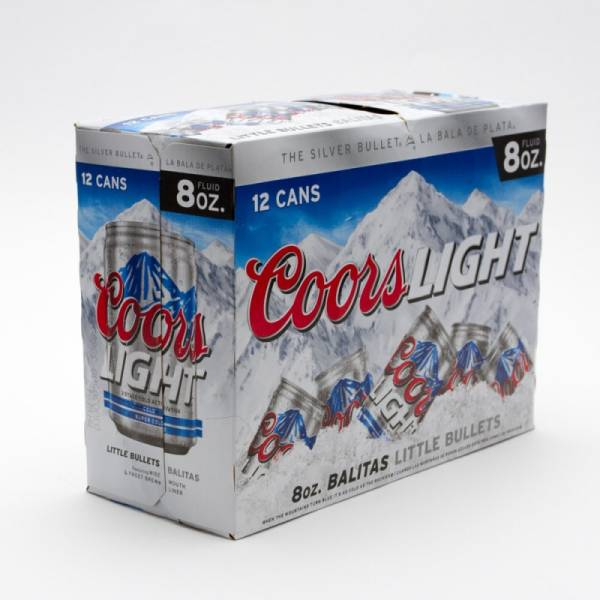 Coors - Light Beer - 8oz Can - 12 Pack