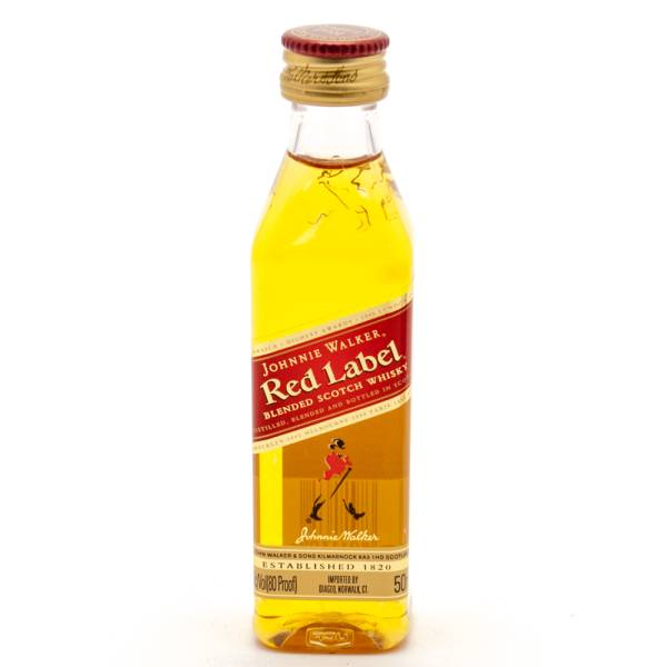 Johnnie Walker - Red Label - Blended Scotch Whisky - Mini 50ml