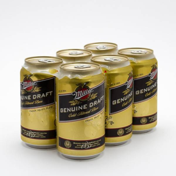 Miller - Genuine Draft - Beer - 12oz Can - 6 Pack