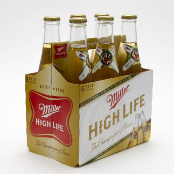 Miller - High Life - Beer - 12oz Bottle - 6 Pack