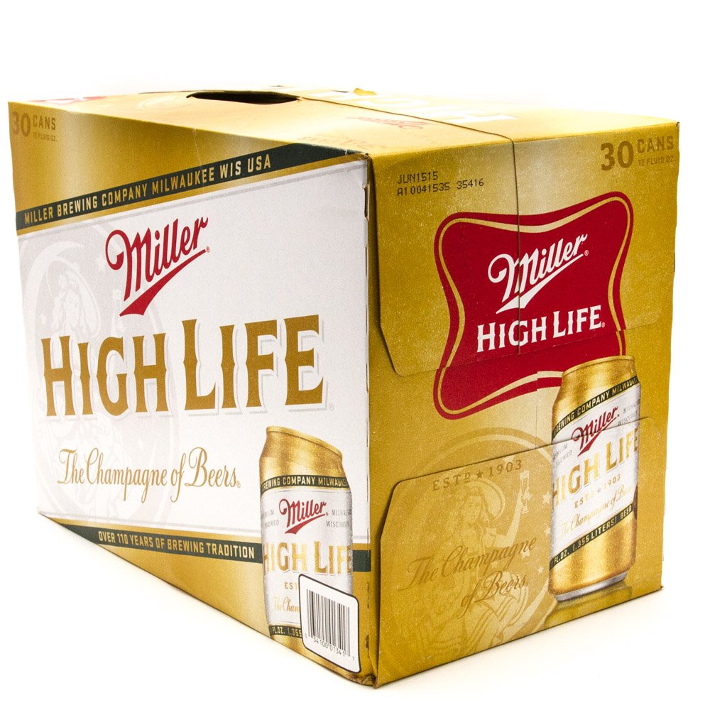 Miller - High Life - Beer - 12oz Can - 30 Pack
