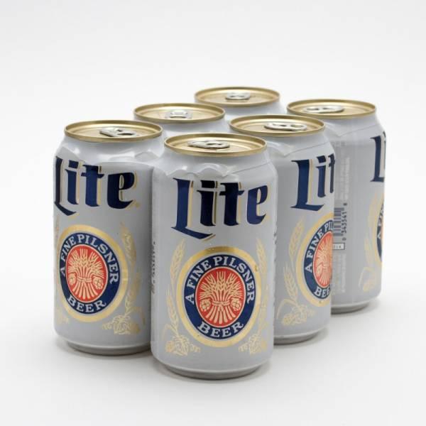 Miller - Lite - Beer - 12oz Can - 6 Pack