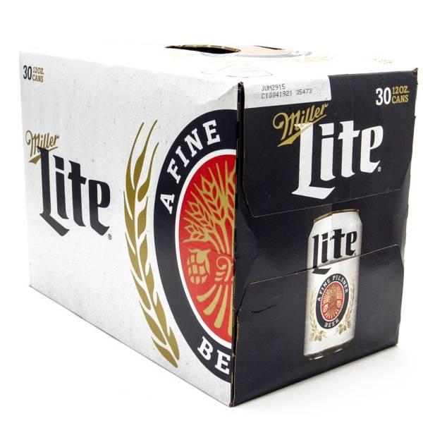 Miller - Lite - Beer - 12oz Cans - 30 Pack