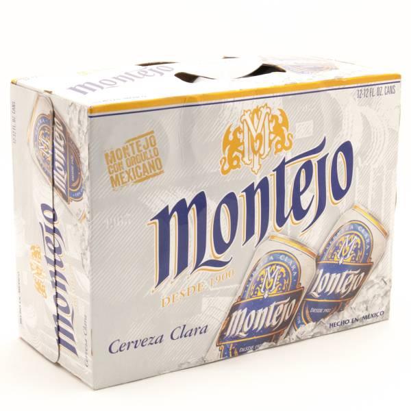 Montejo - Cerveza Clara Imported Beer - 12oz Can - 12 Pack