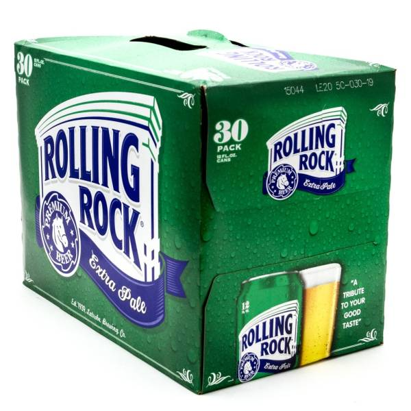 Rolling Rock - Extra Pale Premium Beer - 12oz Can - 30 Pack