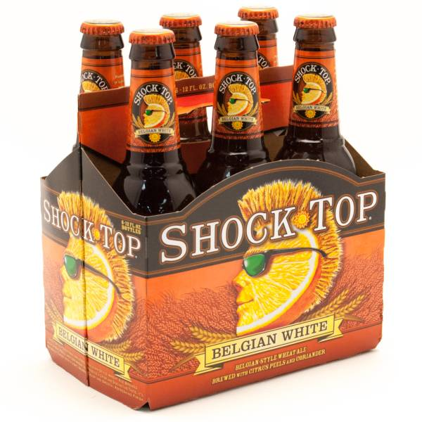 Shock Top - Belgian White Wheat Ale - 12oz Bottle - 6 pack