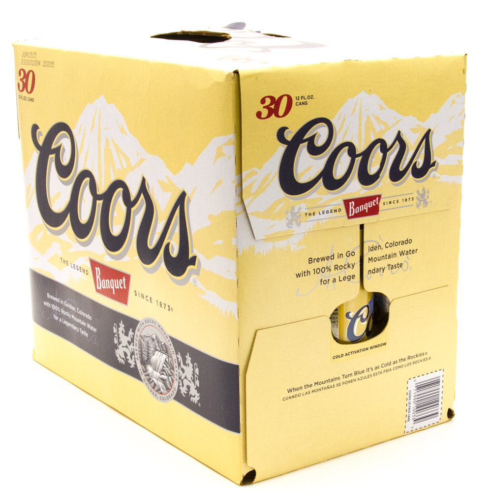 Coors Banquet - Beer - 12oz can - 30 pack