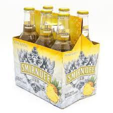 Smirnoff Ice - Pineapple - 11.20z bottle - 6 pack