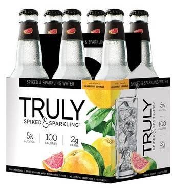 Truly - Spiked & Sparkling - Grapefruit & Pomelo - 12oz. Bottle - 6 pack