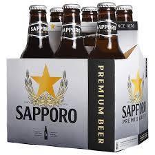 Sapporo - Premium Beer - 12oz. bottle - 6 pack