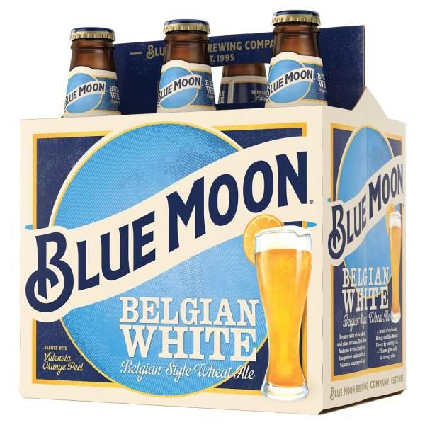 Blue Moon -  Belgian White - 12oz bottle - 6 pack