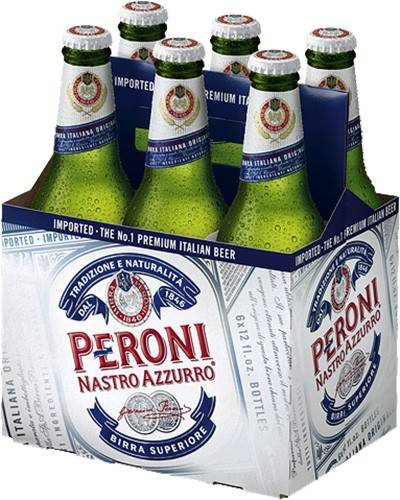 Peroni Nastro Azzurro - Imported Beer - 6 pack bottle