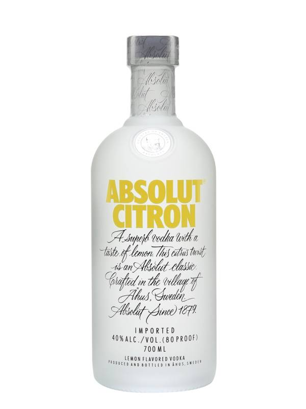 Absolut Citron Vodka - 750mL