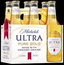Michelob Ultra Pure Gold - Beer - 6 pack bottle