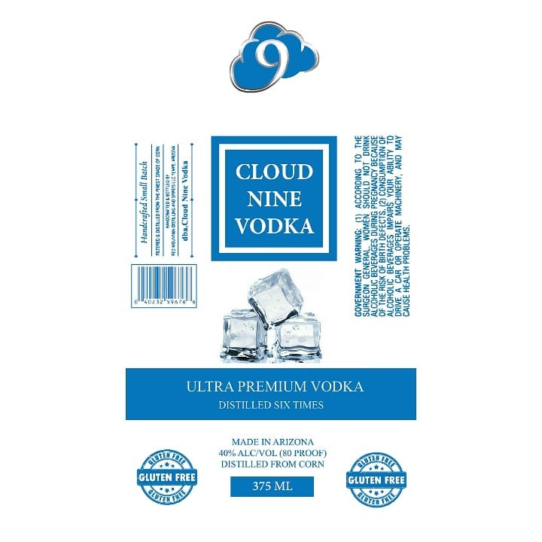 Cloud Nine Vodka - 375mL