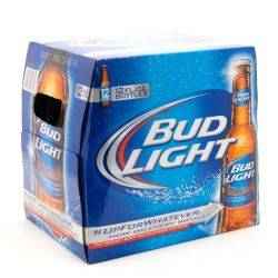 Bud Light - 12oz Bottle - Beer - 12 pack