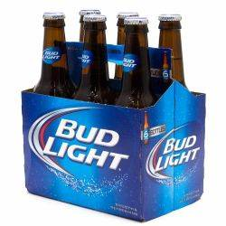Bud Light - 12oz Bottle - Beer - 6 pack