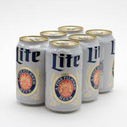 Miller - Lite - Beer - 12oz Can - 6 Pack