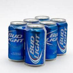 Bud Light - Beer - 12oz can - 6 pack