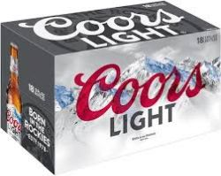 Coors Light - Beer - 12oz bottle - 18...