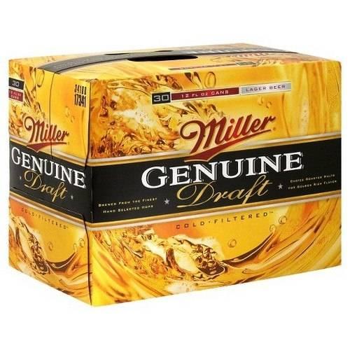 Miller Genuine Draft MGD - 30 Pack...