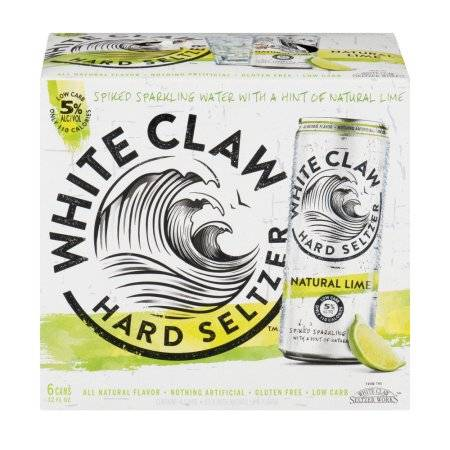 White Claw Lime Seltzer - 6 pack cans