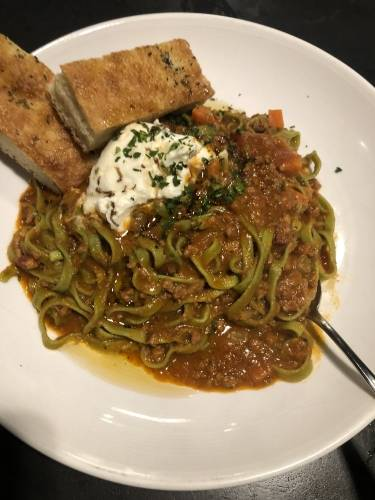 Spinach Fettuccine Bolognese