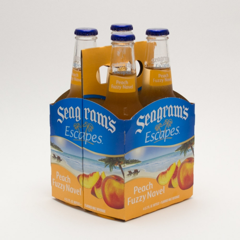 Seagram's Escapes - Peach Fuzzy Navel - 4 Pack 11.2oz Bottles