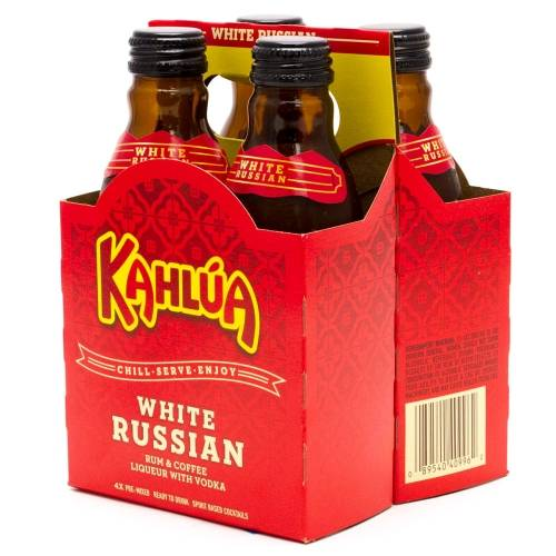Kahlua - White Russian - 4 Pack 200ml...