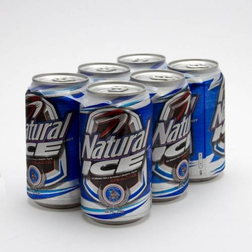 Natural Ice - 6 Pack 12oz Cans