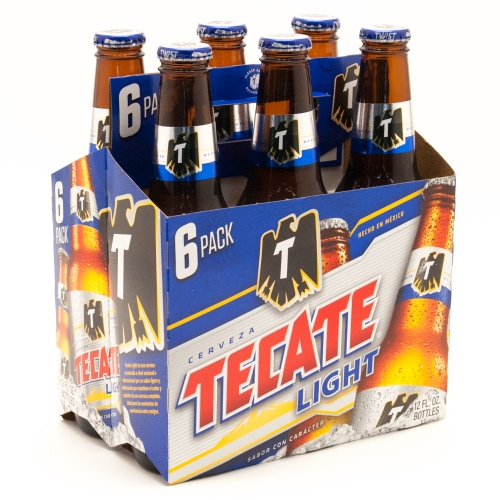 Tecate Light - 6 Pack 12oz Bottles