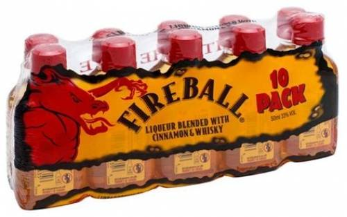 Fireball Cinnamon Whiskey (Pack of 10...
