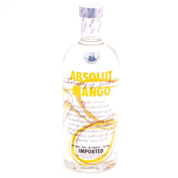 Absolut Mango Flavored Vodka 80 Proof 750ml