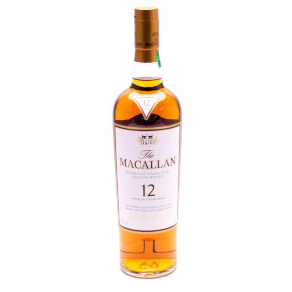 Macallan Scotch Whiskey 12yrs Old 43% Alc. 750ml