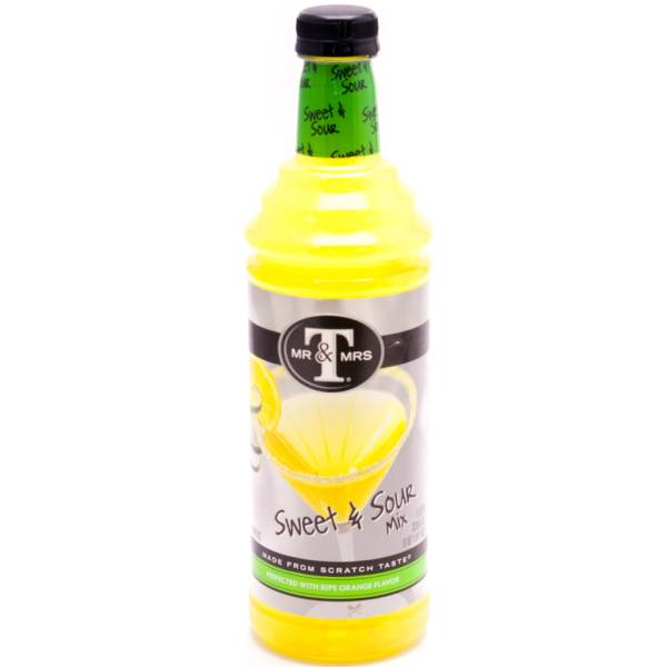 MR & MRS T Sweet &Sour Mix Non-Alcoholic 750ml