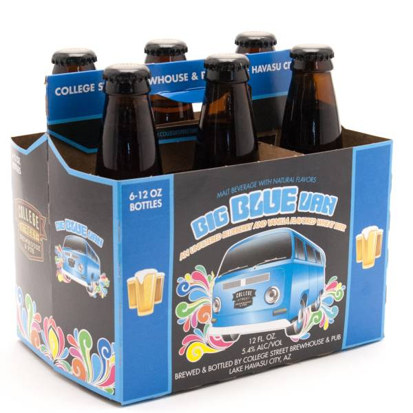 College Street Brewhouse & Pub - Big Blue Van Blueberry & Vanilla Flavored Wheat Beer - 6 Pack