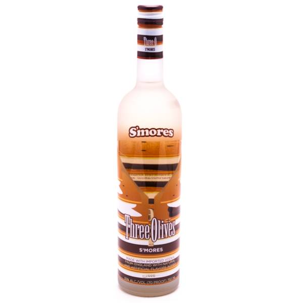Three Olives S'mores Flavored Vodka 70 Proof 750ml