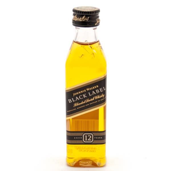 Johnnie Walker Black Label Blended Scotch Whiskey Mini 50ml