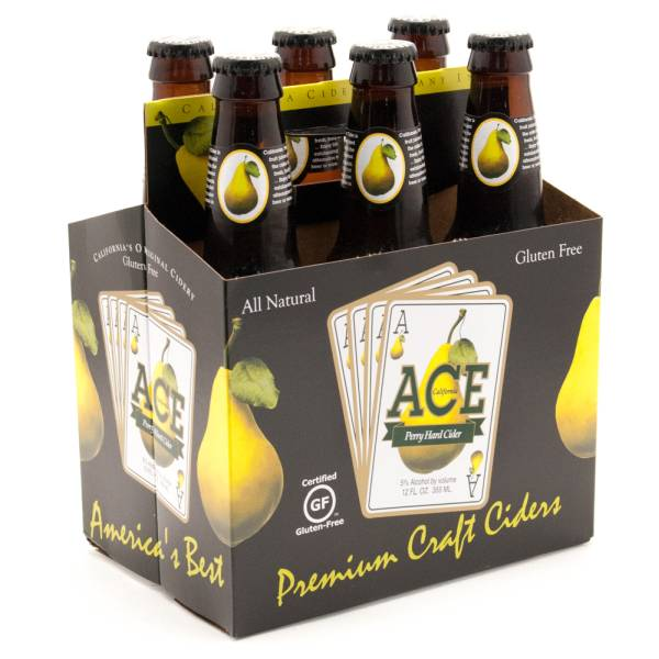 Ace Perry Hard Cider Gluten Free - 12oz - 6 Pack
